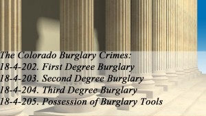 The Colorado Burglary Crimes