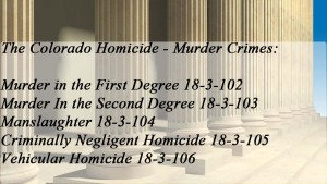 The Colorado Homicide Murder Crimes